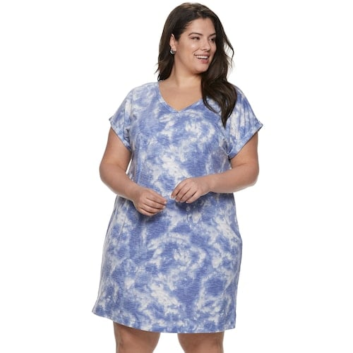 5055d12c9ff180 Plus Size Sonoma Goods For Life Dolman T-Shirt Dress | Chic Summer ...