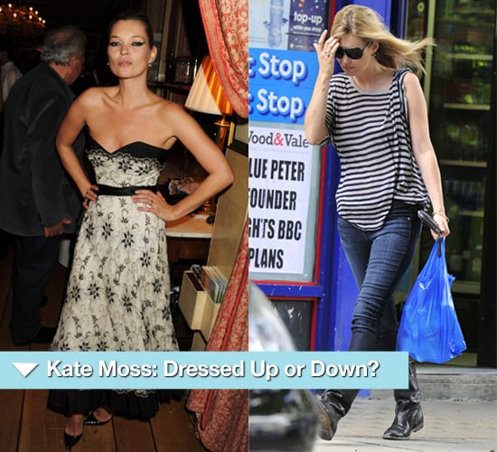 Photos of Kate Moss Dressed Up and Casual