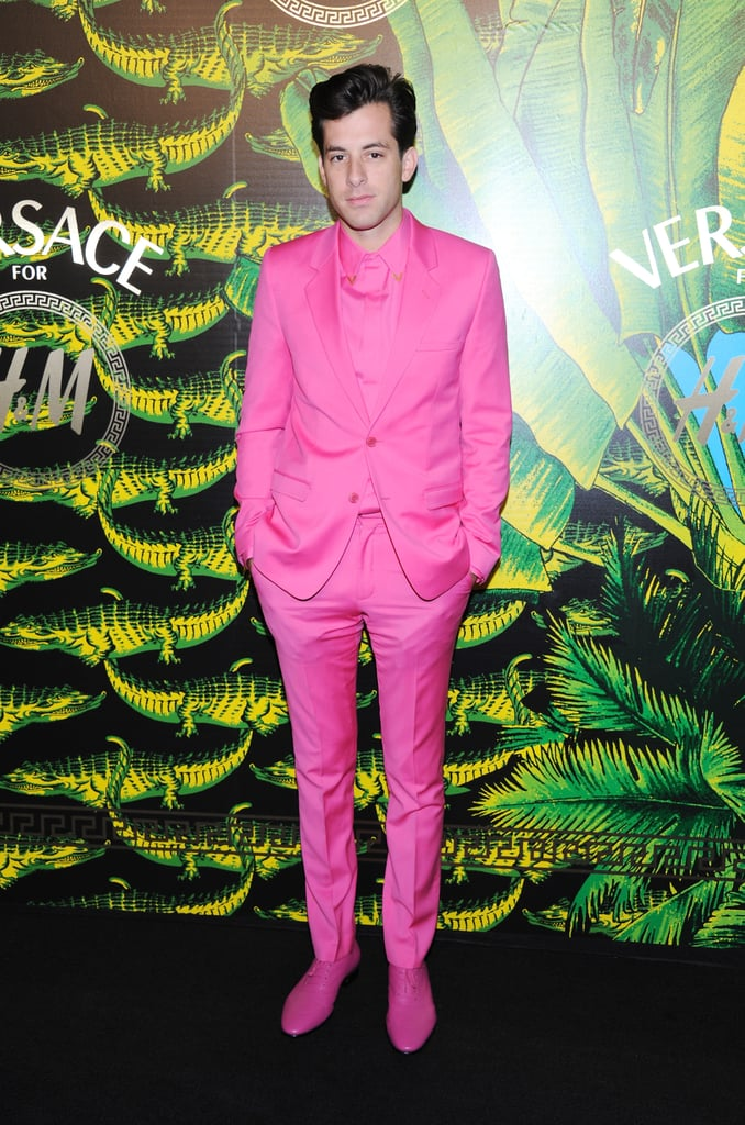 Mark Ronson looked well-preened in a pink suit.