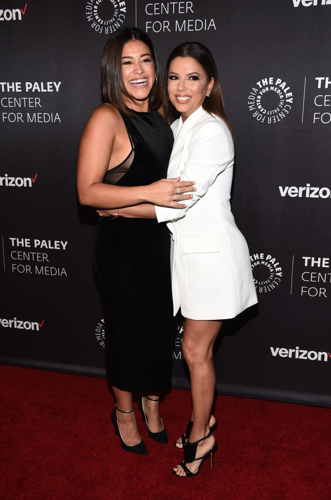 Eva Longoria and Gina Rodriguez's Red Carpet Reunion 2016
