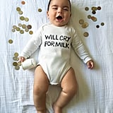 Mom's Weekly Photo Shoot of Punny Onesies