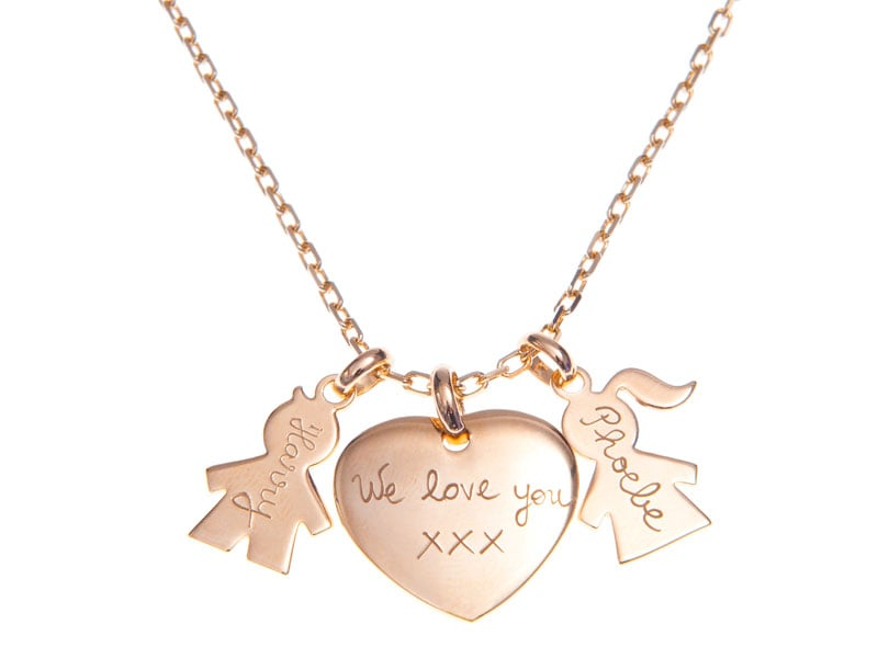 Merci Maman Family Charm Necklace