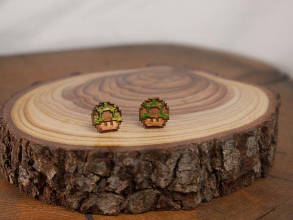 1 UP Mushroom Earrings