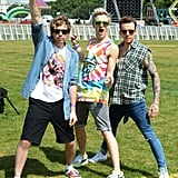 McBusted's James, Tom and Danny prepared for their gig at British Summer Time in Hyde Park in London.