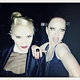 Gwen Stefani posed with Garbage frontwoman Shirley Manson. Source: Twitter user nodoubt