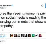 Emma Watson Expressed Dismay Over the Massive Celebrity Nude Photo Hack