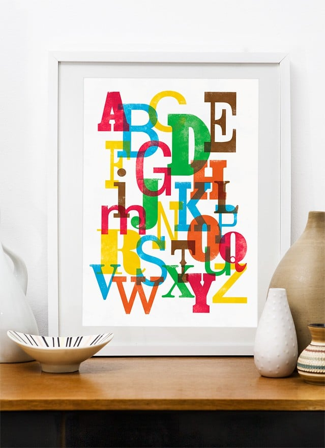Colorful ABC Typography Print ($19)