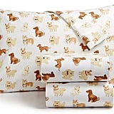 Martha Stewart Show Dogs Flannel Sheet Set