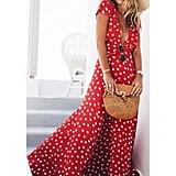 Keepfit Chiffon Polka Dot Dress