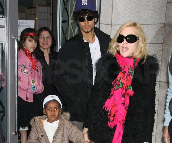 Photos of Madonna, Jesus Luz, Rocco Ritchie, Lourdes Leon, David Ritchie at Kabbalah in NYC 2009-03-01 23:48:37