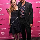 Amanda Seyfried linked up with her Lovelace co-star Peter Sarsgaard at their NYC screening.