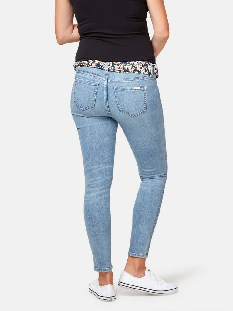 For casual or smart-casual options, we'd recommend the Delevine Maternity Skinny Ankle Jean, Lois Maternity Slim Boyfriend or Lucinda Maternity 7/8 Jean. They're all offered in a range of sizes, are made from a cotton, polyester, elastane mix and feature a durable elasticated tummy band.  The super-stretch denim is expertly made for mums to be, with the technologically advanced fabric creating a stylish silhouette while providing superior stretch and recovery properties.