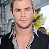 Chris Hemsworth stepped onto the red carpet at the MTV Movie Awards.