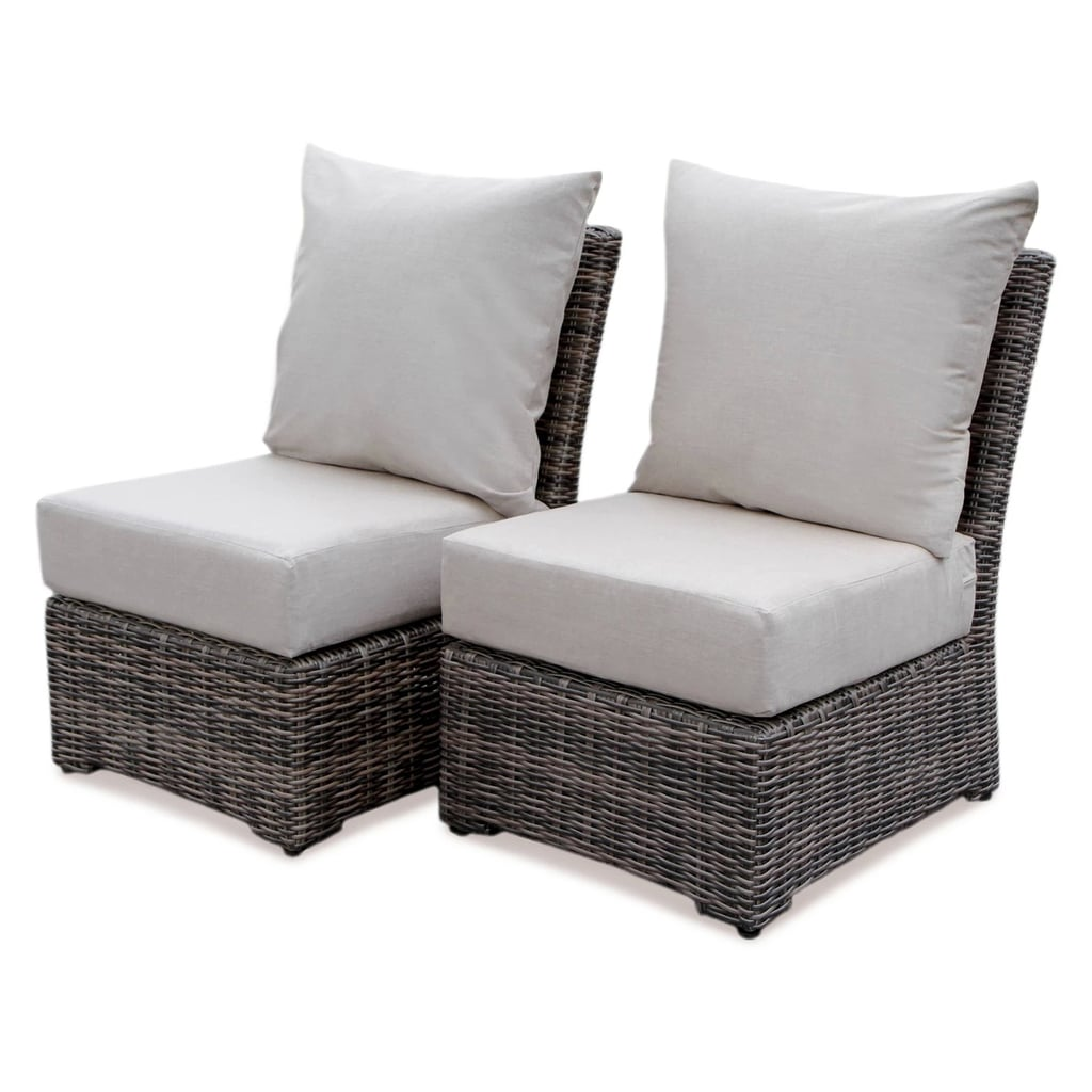 Cherry Hill All Weather Wicker Patio Armless Deep Seating