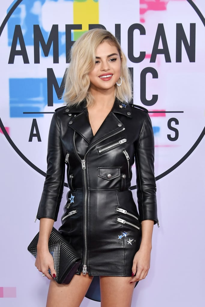 Selena gomez black dress ama