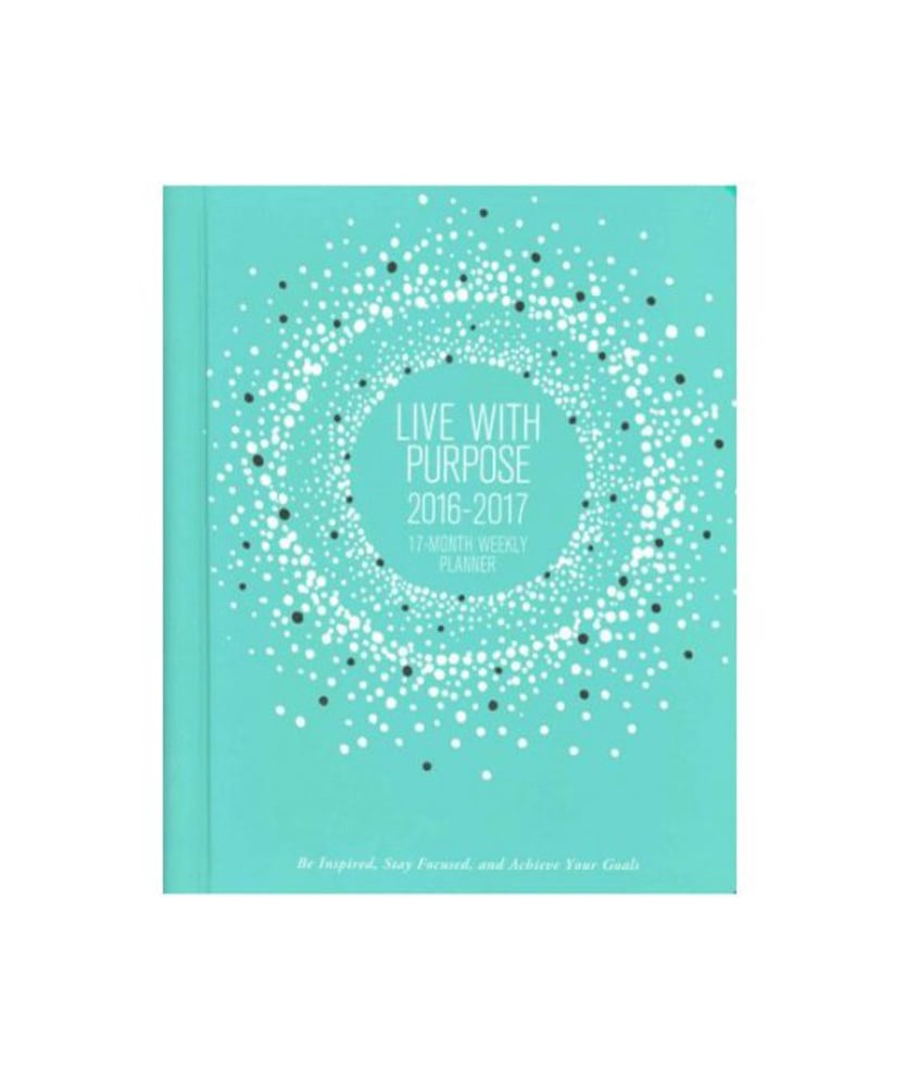"""""""Live With Purpose"""" Weekly 17-Month Planner ($21)"""