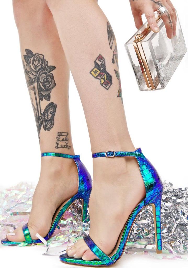 Mermaid Strappy Heels ($35)