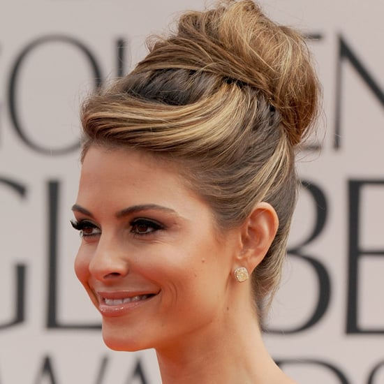 Maria Menounos' 2012 Golden Globes Hair and Makeup Look