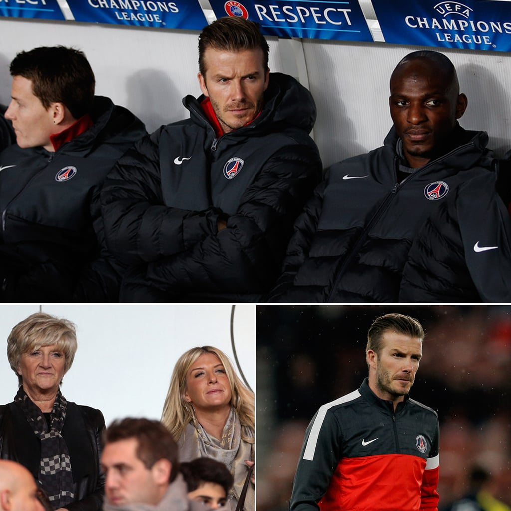 David Beckham's Mom Cheers on PSG While He Gets Benched