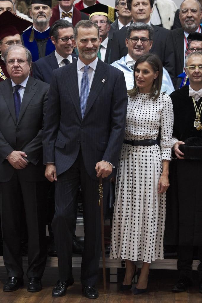 Queen Letizia's Massimo Dutti Midi Dress September 2018