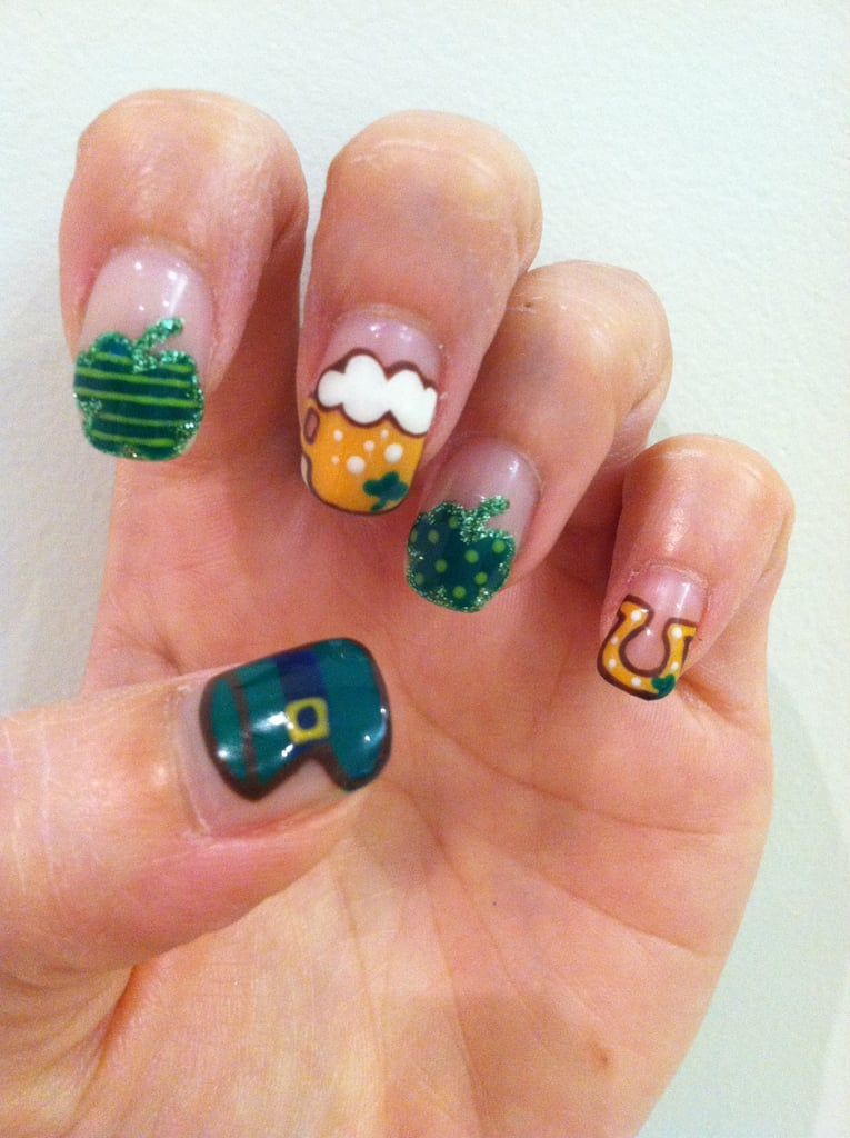 St. Patrick\'s Day Nail Art DIY Manicure | POPSUGAR Beauty