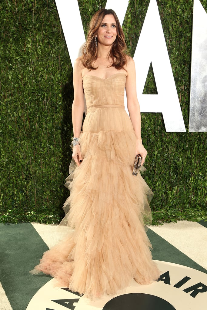 Kristen chose a frothy nude-coloured J.Mendel gown for the 2012 Oscars.