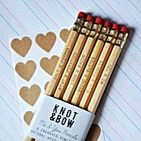 Show your love in a sweet, subtle way with these Me & You Gold Engraved Pencils ($12) from Knot & Bow.