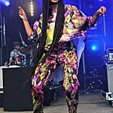Solange Knowles hit the Glastonbury Music Festival stage looking stylish in these Sophia Webster Olivia pumps ($495).