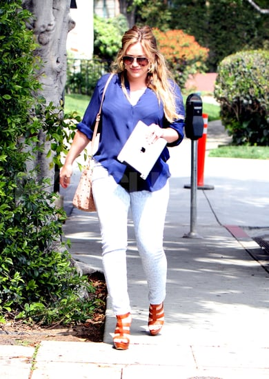 Hilary Duff First Pictures After Luca Comrie's Birth