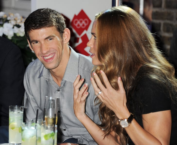 Michael Phelps shared a laugh with Natalie Coughlin ...