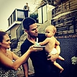 He held his little girl as she celebrated her first birthday in October 2014.