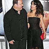 Salma Hayek and Kevin James gave each other a glance at the premiere.
