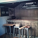 No pub shed is complete without a bar and stools.