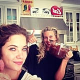 Ashley Benson baked brownies and chocolate chip cookies with a friend. Source: Instagram user itsashbenzo
