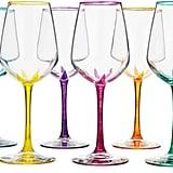 Flower Stemmed Wine Glasses