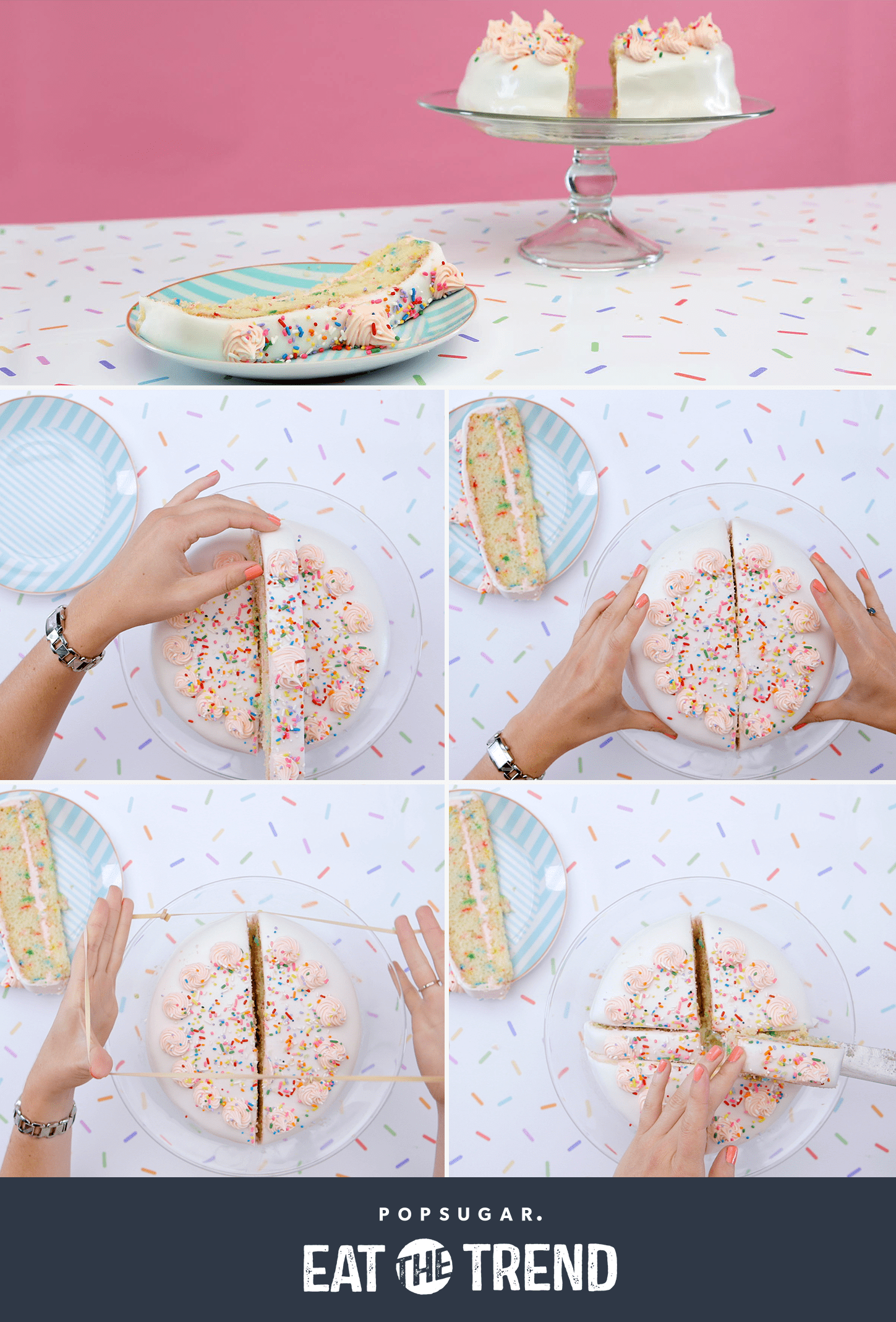 how to perfectly cut a cake