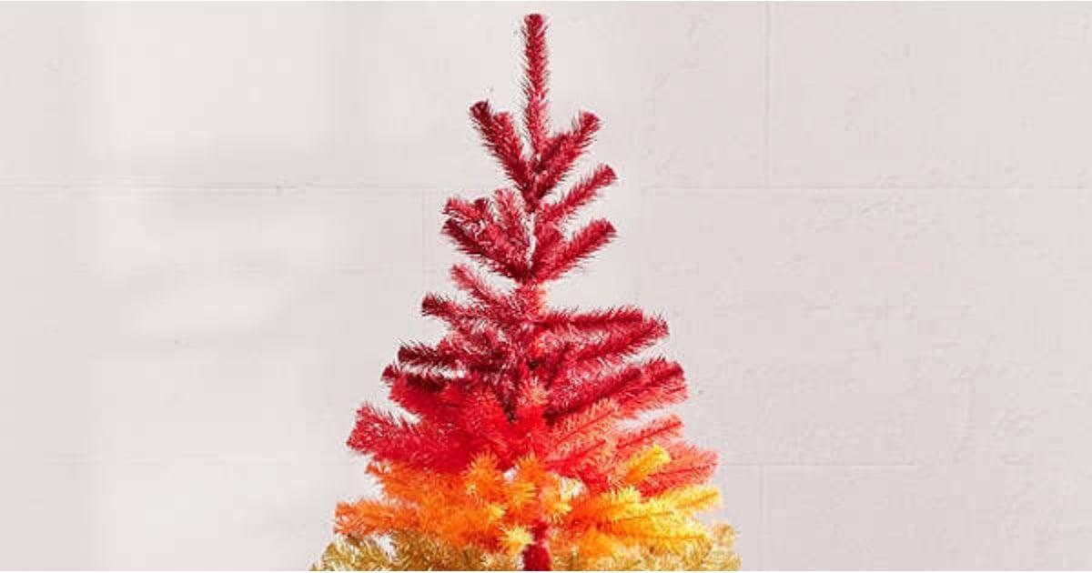 Artificial Rainbow Christmas Tree