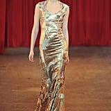 For the actress who wants to resemble Oscar himself, we love this gold metallic gown from Christian Siriano's Fall 2013 collection.