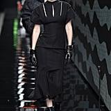 Gigi Hadid on the Versace Fall 2020 Runway at Milan Fashion Week