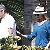 Stacy Keibler followed George Clooney's lead to the beach.