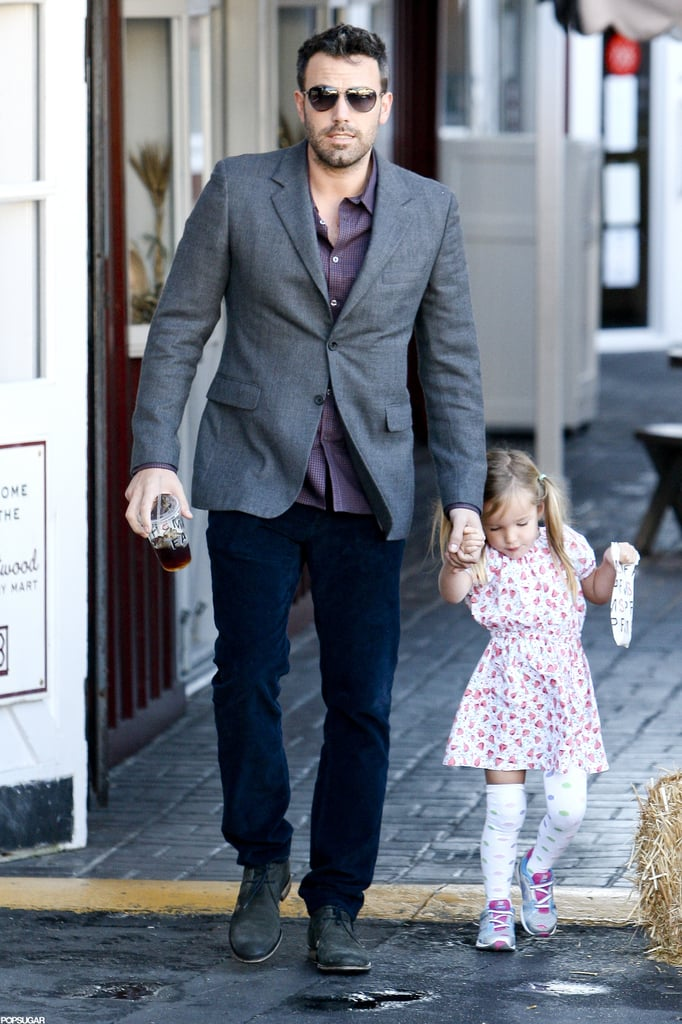 Ben Affleck and Seraphina Affleck walked through the Brentwood Country Mart together.