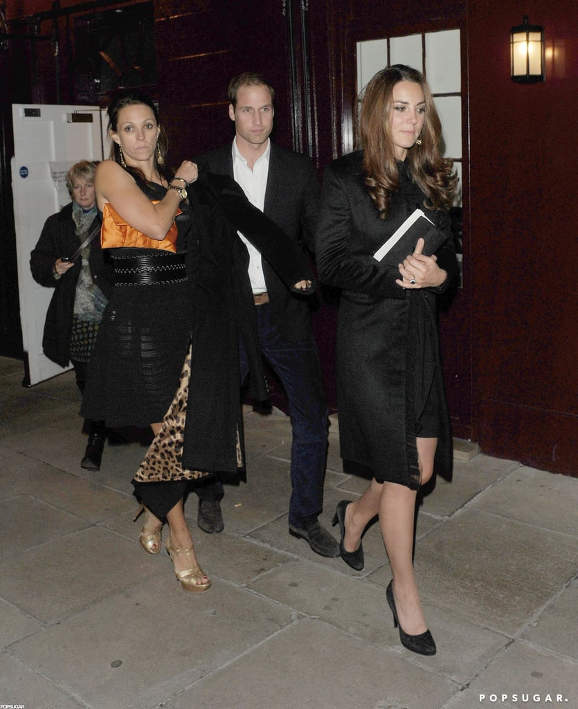Prince William and Kate Middleton joined friends at Loulou's for a late one out in London last night. The royals spent the evening in the neighborhood of Mayfair with Pippa Middleton and Princess Eugenie. It was the end of a busy day for both William and Kate. Prince William attended the funeral of his childhood nanny, Olga Powell. Kate, though, had professional obligations. Kate toured Newcastle solo, after William had to change his plans for the sad event. Making many stops around the city, Kate met with youngsters at a community garden project, the Keyfund Office charity, and the Stockton Recovery Service. Tonight, William is expected to continue the mingling at the 100 Women in Hedge Funds dinner.