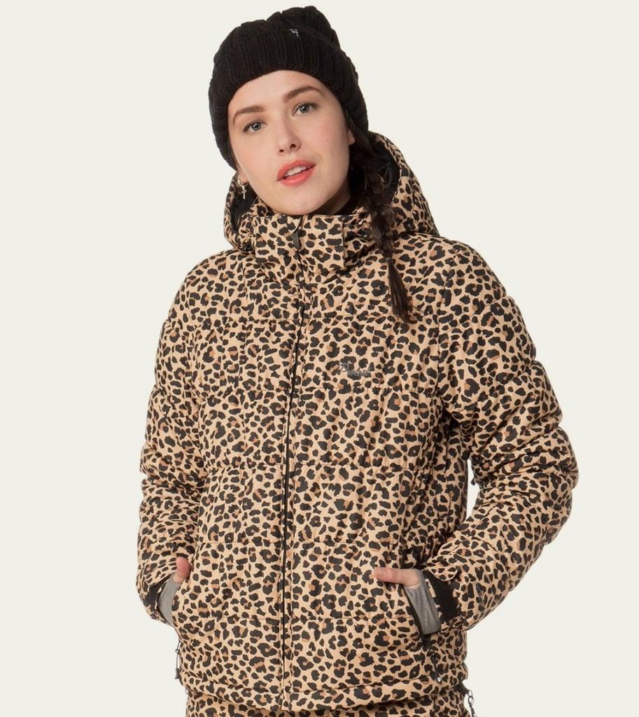 Protest Revet Leopard Print Winter Jacket