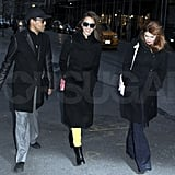 Jessica Alba spent Valentine's Day in NYC and went out to dinner with two pals.