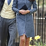 The Duchess Wore a Blue M Missoni Tweed Coat While Celebrating a Friend's Wedding