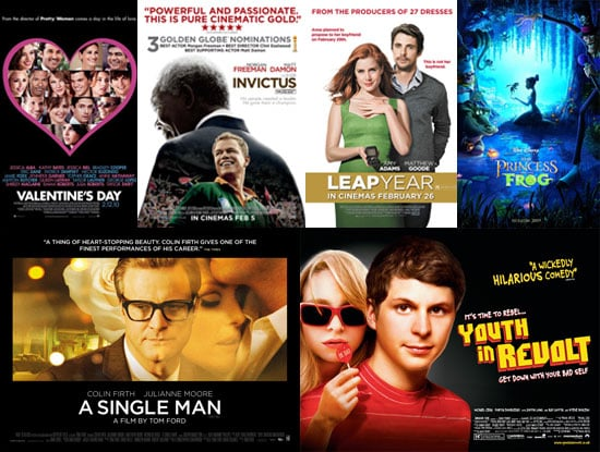 Movies Films Released in UK Cinemas in February 2010 Including A Single Man, Valentine's Day, Invictus, Youth in Revolt