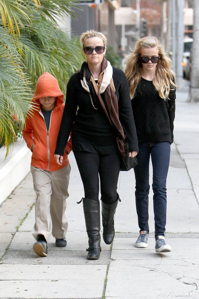 Reese Witherspoon walked around LA with her children.