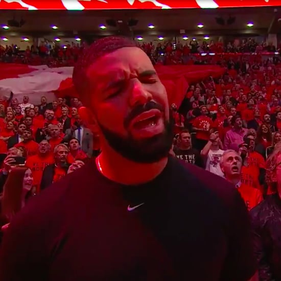 Drake Singing the Canadian National Anthem During NBA Finals