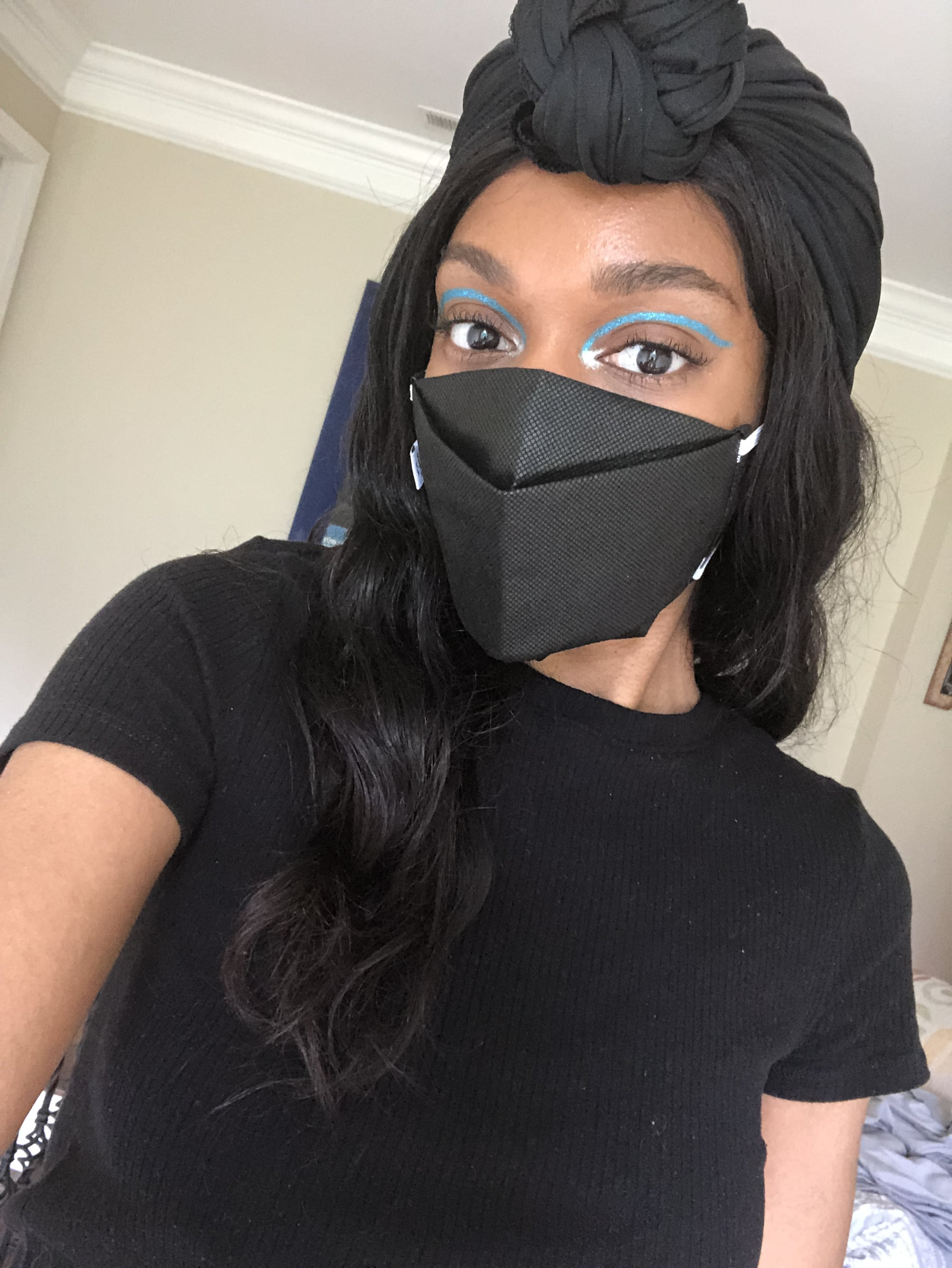 How To Wear Eye Makeup With Face Masks Editor Experiment Popsugar Beauty