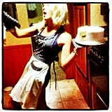 Julianne Hough balanced a homemade cake on her birthday. Source: Instagram user juleshough